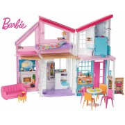Mattel Barbie Nuova Casa di Malibu 2019. Playset Richiudibile su Due Pia...