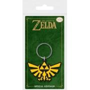 Pyramid Legend of Zelda - Triforce Rubber Keychain