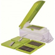 Nucleya Retail 5 in 1 Star Slicer Vegetable Fruits Cutter Slicer Dicer Grater Chopper Peeler