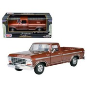 Motormax 79346Br 1979 Ford F-150 Pickup Truck Diecast Model Car For 1-24 Scale; Brown