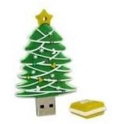 Microware Chritmas Tree Shape 8GB pendrive 8 GB Pen Drive(Green)