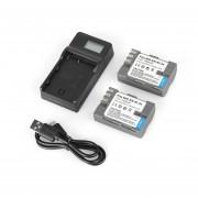 EH Baterías 2pcs EN-EL3E 1500mAh+LCD USB Cargador De Batería única