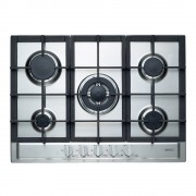 Emilia SEC75GWI 70cm Stainless Steel Gas Cooktop with Centre Wok Burner