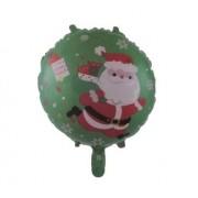 Balon folie rotund Mos Craciun 45cm