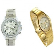 Paidu Silver Men And Rosra Gold Ledish Watches For Men Women