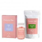 TummyTox Paquete esencial para todas las necesidades diarias. 30 g de té para 14 tazas, 60 caramelos y 60 cápsulas para 30 días.