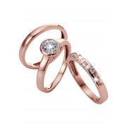 bpc bonprix collection Smycken: Dam Ringset med zirkoner (3 st) i guld - bpc collection