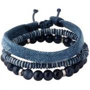 Dare by Voylla True Blue Beaded Gypsy Bracelets