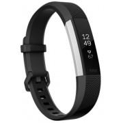 Bratara Fitness Fitbit Alta HR FB408SBKL-EU, Marimea L (Negru/Argintiu)