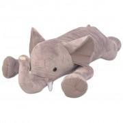 vidaXL Éléphant jouet en peluche XXL 120 cm