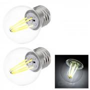 JRLED E27 4W 4-COB LED mini bombilla globo lampara de luz blanca fria (2PCS)