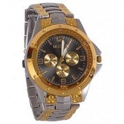 Rosra Black Golden Casual Analog Watch For Men-By Prushti-005