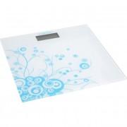 Електронен кантар Safeway RTC3051-B, 150 кг, Стъклен, LCD, Бял/син