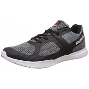 Reebok Women's Cardio Workout Black, Gravel, Flat Grey and White Dance Shoes - 4 UK/India (37 EU)(6.5 US)