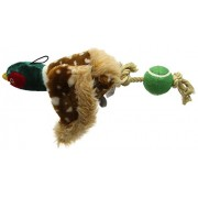 house of paws Plush Pheasant Dog Toy with Tennis Ball Tail Toy