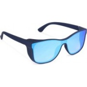 TOUCH OF FINE Retro Square Sunglasses(Blue)