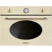 SMEG SF4800MPO beépíthető rusztikus mikrohullámú sütő - bézs