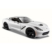 NEW 1:24 DISPLAY MAISTO SPECIAL EDITION COLLECTION - WHITE 2014 CHEVROLET CORVETTE C7 STINGRAY Diecast Model Car By Maisto (Without Retail Box)