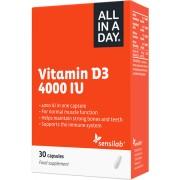 Sensilab All In A Day Vitamin D3 4000 IU - Völlig sichere Tagesdosis 1-Monatsvorrat 30 Kapseln Sensilab