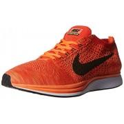 Nike Men's Flyknit Racer Orange Running Shoes - 10 UK/India (45 EU)(11 US)(526628-602)