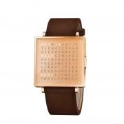 Biegert & Funk Qlocktwo Watch Copper W39 - Nederlands