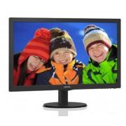 """Monitor TFT, Philips 23.6"""", 243V5LHSB5/00, 5ms, 10Mln:1, DVI/HDMI, FullHD (243V5LHSB/00)"""