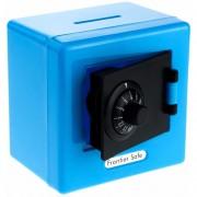 Alcancia Caja Fuerte De Combinacion Color Azul