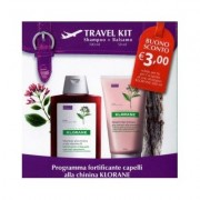 Klorane Travel Kit Shampoo + Balsamo Alla Chinina 100ml+50ml
