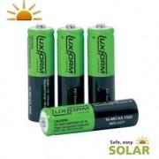 Luxform solar batterij 800 mah AA 4 stuks