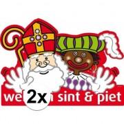Folat 2x Welkom Sint en Piet deurbord