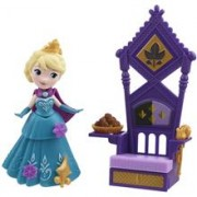 Jucarie Hasbro Disney Frozen Little Kingdom Small Doll & Accessories Rise & Shine Anna With Bed