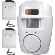 Mini-alarmă cu 2 telecomenzi, Smartwares SC09 SW