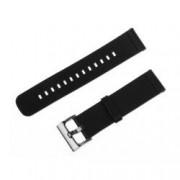 Curea neagra din piele pentru Motorola Moto 360 2nd Gen 46mm / Samsung Gear S3 / Galaxy Watch 46mm / Huawei Watch W2 Classic