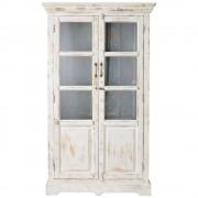 Maisons du Monde Vetrina bianca in mango effetto anticato L 105 cm Avignon