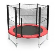 G21 trambulin biztonsági hálóval, 250cm, piros