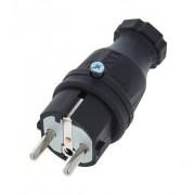 PCE Rubber Safety Plug EU/B/F Bk
