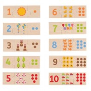 Bigjigs Toys Number Tiles - Learn to Count, Multicolored
