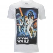 Geek Clothing Star Wars New Hope Poster Heren T-Shirt - Wit - S - Wit