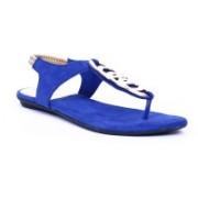 Adjoin Steps Women Blue Flats