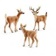 Schleich Miniature Deer Figurine Set -- White-Tailed Buck
