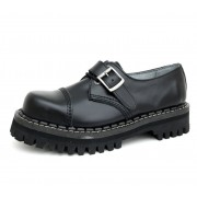 KMM cipő 3 lyukú - Black csattal - 030