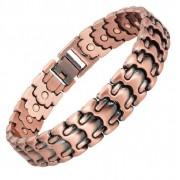 Pat Bracelet magnétique cuivre vintage avec aimants - Chambord