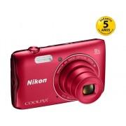 Nikon Cámara Compacta NIKON Coolpix A300 (Rojo - 20 MP - ISO: 80 a 1600 - Zoom Óptico: 8x)