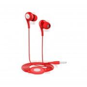 Audífonos, JD91 Estéreo De Alta Fidelidad De 3.5mm Para El Estéreo Del Teléfono Diseño Ergonómico De La Manera Con Los Auriculares Del Micrófono Para Sony Iphone Samsung (rojo)