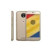 Smartphone Motorola Moto C Plus XT1726 Ouro 16GB, Tela 5'', TV Digital, Dual Chip, Android 7.0, 4G, Câmera 8MP, Processador Quad-Core e 1GB de RAM