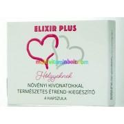Elixír Plus 4 db kapszula, női, vágyfokozó hatású,2 alkalomra, Hölgyeknek, ÚJ!
