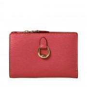 Lauren Ralph Lauren Compact Wallet Small plånbok, Ljusröd