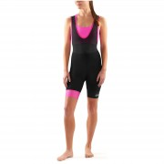 Skins Cycle DNAmic Women's Bib Shorts - Black/Magenta - L - Black/Magenta