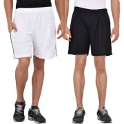 Pack of 2 Knee Length Shorts (Black and White)