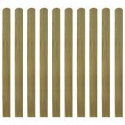 vidaXL Scânduri de gard din lemn tratat, 10 buc, 120 cm